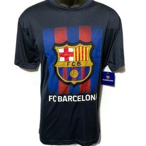 FC Barcelona Men's Navy Active T-Shirt